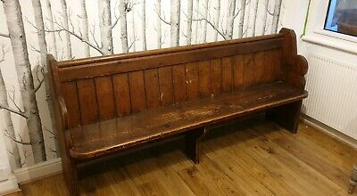 Church Pew pine Bench Antique Vintage No 36 Can deliver for a charge or Brighton