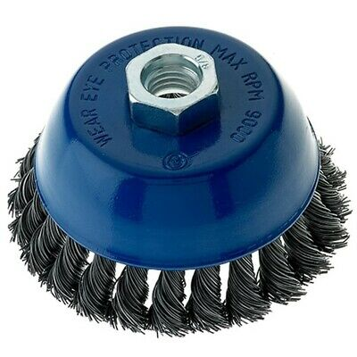 4 Pack - 4″ x 5/8″-11 Carbon Steel Wire Knot Cup Brush for Angle Grinders