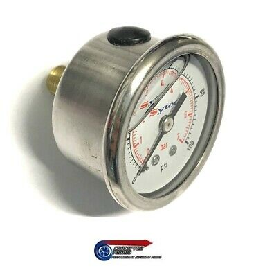 Sytec Fuel Pressure Gauge Liquid Filled 1/8 NPT Thread - FPG002