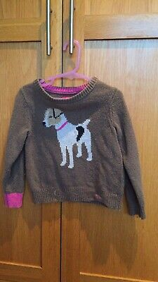 Joules Girls Dog  Jumper Age 4