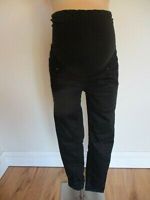 New Look Maternity Black Emilee Over Bump Skinny Jeggings Jeans Size 10