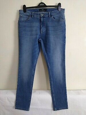 NEXT Size 34W & 29L BLUE Men's 34 Short SUPER SKINNY FIT JEANS