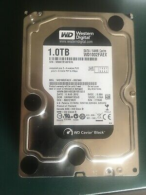 "Western Digital WD Caviar Black 1 TB, Internal, 7200 RPM, 3.5"" (WD102FAEX) Hard."