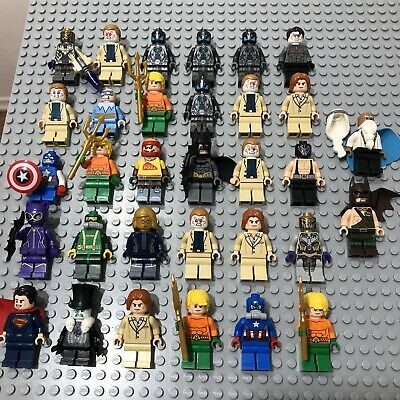 Huge LEGO Super Heroes DC Marvel Minifigure Bundle Joblot x 32 - VGC + Genuine