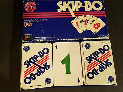 Vintage 1986 Skip-Bo UNO Family Card Game Complete With Instructions