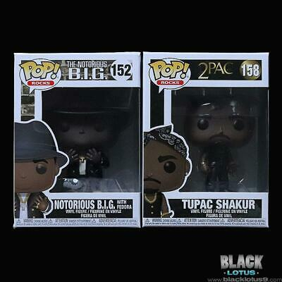 Funko Pop! Tupac Shakur Notorious B.I.G. Big Fedora 2Pac IN STOCK Pop 152 Vest