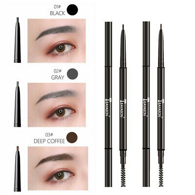 Dual Ended Automatic Rotate Brow Tattoo Pen Eyebrow Pencil with Brush