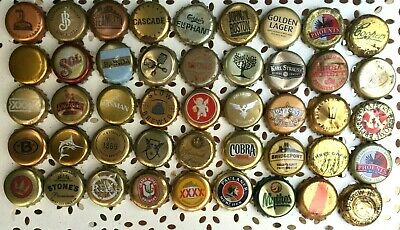 45 x GOLD Mixed Crown Seal Bottle Tops Caps
