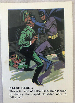 1966 Weeties BATMAN TRADING CARD - False Face 5