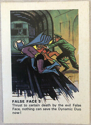 1966 Weeties BATMAN TRADING CARD - False Face 3