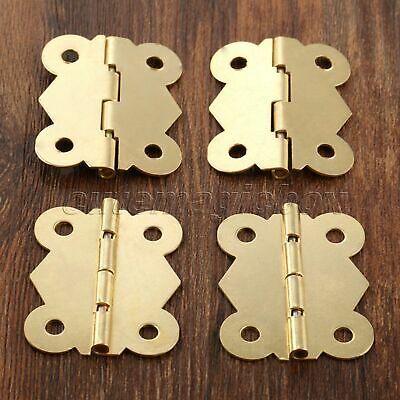 Brass Color Butterfly Hinges Jewelry Box Cabinet Dollhouse Door Hinge Decorative