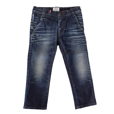 ARMANI JUNIOR Jeans Size 2Y Stretch Distressed Faded Crumpled Made in Italy
