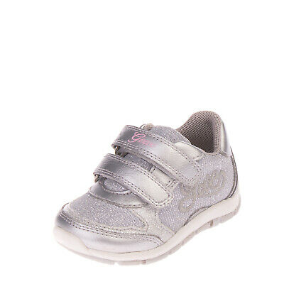 GEOX Sneakers Size 22 UK 5 US 6.5 Partly Leather Lining Metallic & Shiny Effect