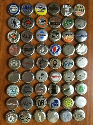 55 x SILVER Mixed Crown Seal Bottle Tops Caps