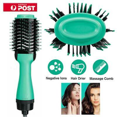 4-in-1 One Step Hair Dryer Comb and Volumizer Pro Brush Straightener Curler
