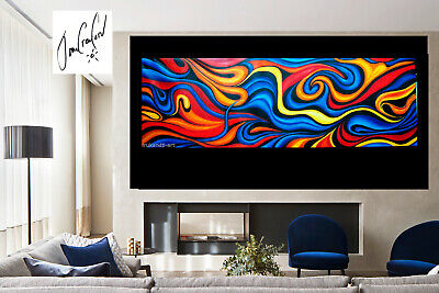 Huge original Art oil Painting  abstract Canvas modern dream  by Jane Crawford