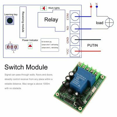 Single Way Remote Control Switch 12-48V Receiver Module with Remote Control♞♟