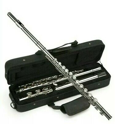 * Windsor Student Nickel Plated Flute With Split E Key Includes Hard Case 24:4