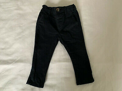 Next Boys / Baby Dark Blue Chino Trousers 6-9 Months Adjustable Waist BNWT