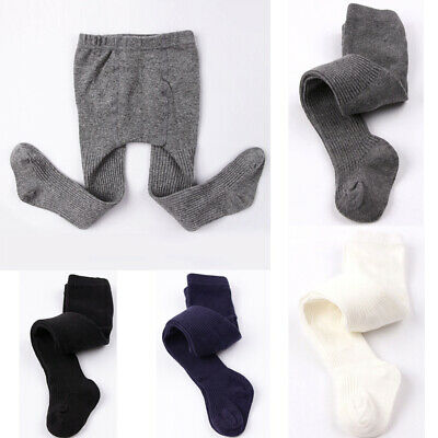 Toddler Baby Kids Girls Boys Pure Color Cotton Pants Hosiery Pantyhose Tights