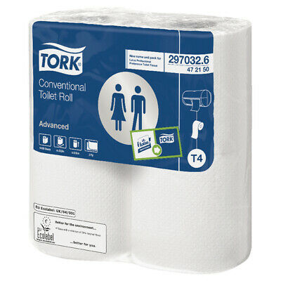 Tork Conventional Toilet Roll White 320 Sheet 472150 Pack Of 36