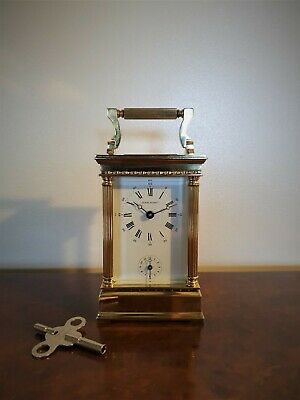 A Rare Quality Alarm Carriage Clock By The Luxury Maker L'epee - Jean Renet Vgc