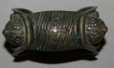 Antique Handcrafted Greek Orthodox Crusader Bronze Fertility Bracelet