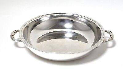 Silver bowl or dish with handles. Sweden, W. A. Bolin, 1952.