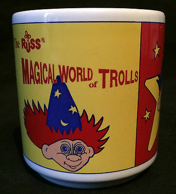 The Magical World of Trolls Childs Mug 1993 ~ Russ ~ Unused ~ Rare ~ Collectable