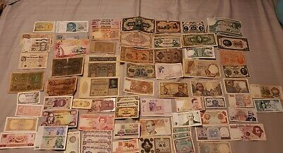 HUGE 150pc+ LOT COLLECTION WORLD FOREIGN CURRENCY VINTAGE VARIOUS COUNTRIES