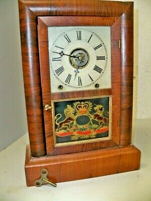 Ansonia Brass & Copper 8 Day  Cottage Clock