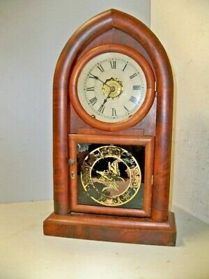 Rare Jerome New Haven Beehive Clock W Turners Pat Alarm Movt