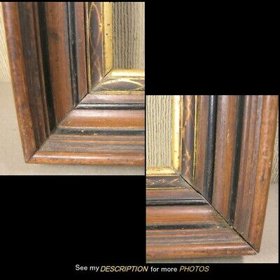 Antique Victorian Black Walnut Picture Frame for Painting or Mirror