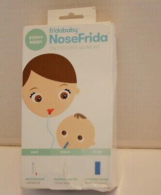 FridaBaby NoseFrida Snotsucker Saline Kit *Open Box*