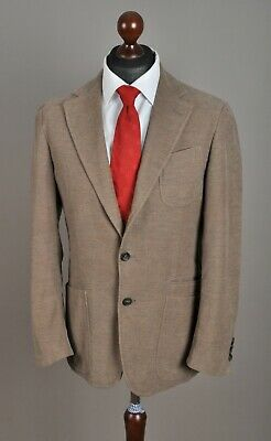 Men's PAL ZILERI Concept Blazer Jacket Cotton Brown 2 Button Size 50