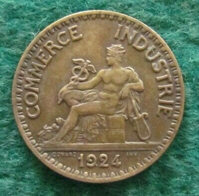 French 1924 Chamber Of Commerce 2 Franc Coin - Ungraded
