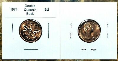 Canada 1974 Small Cent *Double Queen's Back* UNC BU Red!!