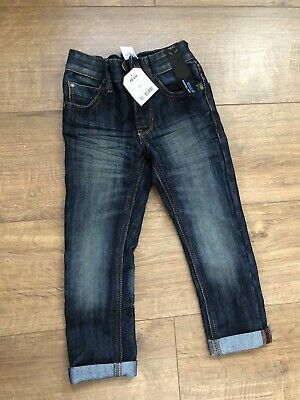 New NEXT Boys Jeans Trousers Adjustable Waist Size 3 Years