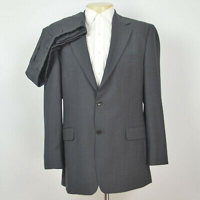 BROOKS BROTHERS Stretch Wool Gray Suit Flat Front Pant Sz 40R 34 x 32