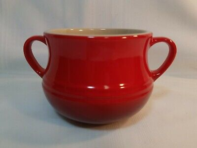 Le Creuset Soup Bowl With Handles - Stoneware - Red & Dark Red - 16 Ounce