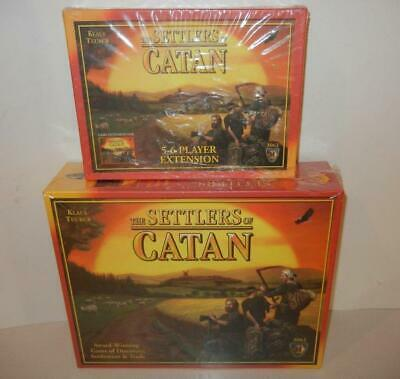 NEW The Settlers of Catan Board Game 3061 plus 3062 5-6 player Expansion! SEALED