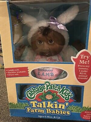 Cabbage Patch Kid 1993 Talking Farm Baby Lamb AA By Hasbro. Talks! Collectible!!