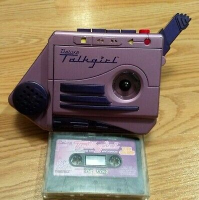 Vintage TESTED & WORKS Tiger Deluxe TALKGIRL Tape Recorder With Cassette!