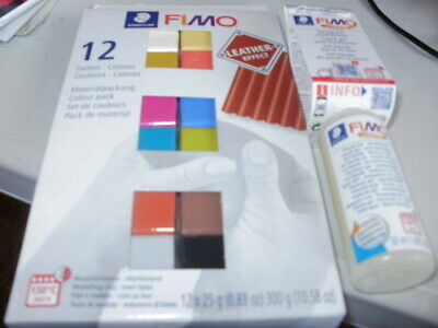 fimo liquid gel + leather effect modeling clay