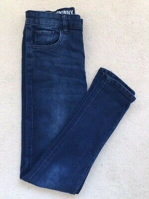 Boys Skinny Jeans - Age 12 years - Blue - Good Condition - Adjustable Waist.