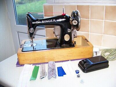 Vintage 1927 Singer 99K Heavy Duty Elec Sewing Machine, Smooth Running, Serviced