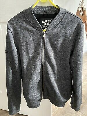 New Womens Superdry Factory Second Orange Label Micro Jersey Luxe Bomber Black