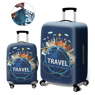 Printed Elastic Dustproof Travel Suitcase Protective Cover Luggage Protector JH