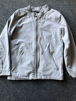 River Island Boys Light Grey Lightweight Jacket -age 9-10 Years