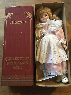 Alberon Collectors Porcelain Doll - Boxed With Stand - Superb Condition